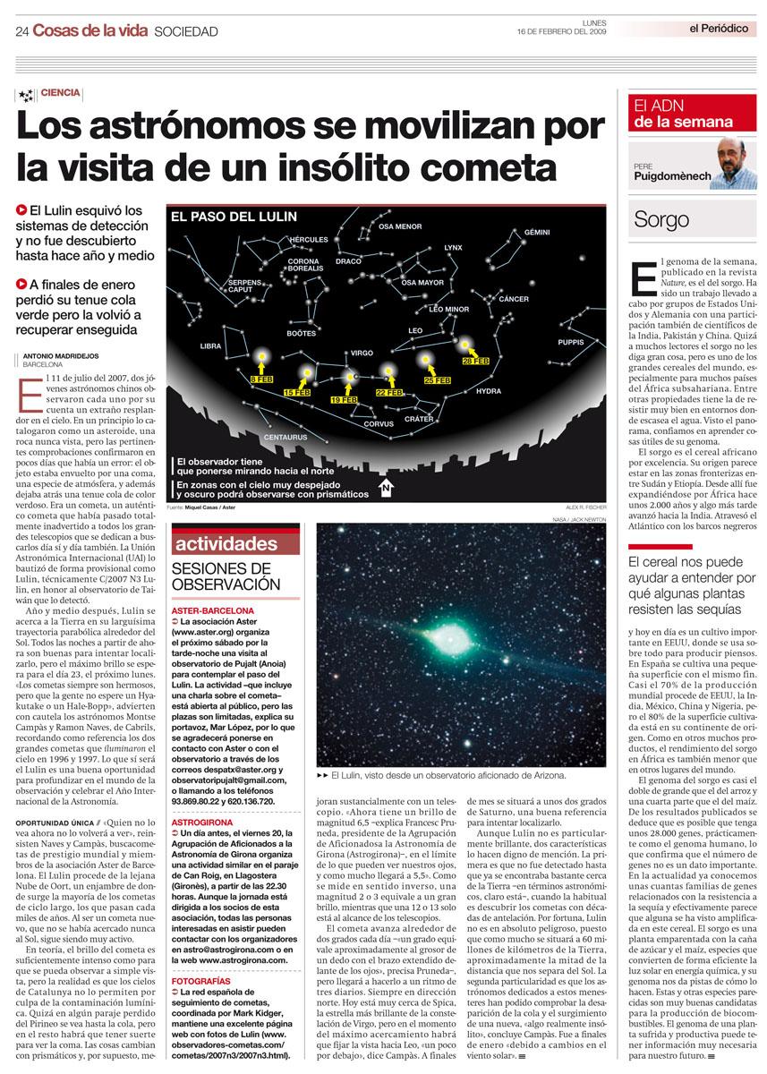 Los astrónomos de movilizan por la visita de un cometa insólito