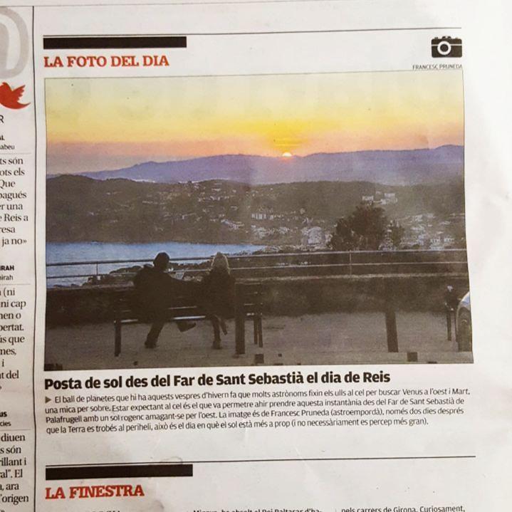 Posta de sol al Diari de Girona