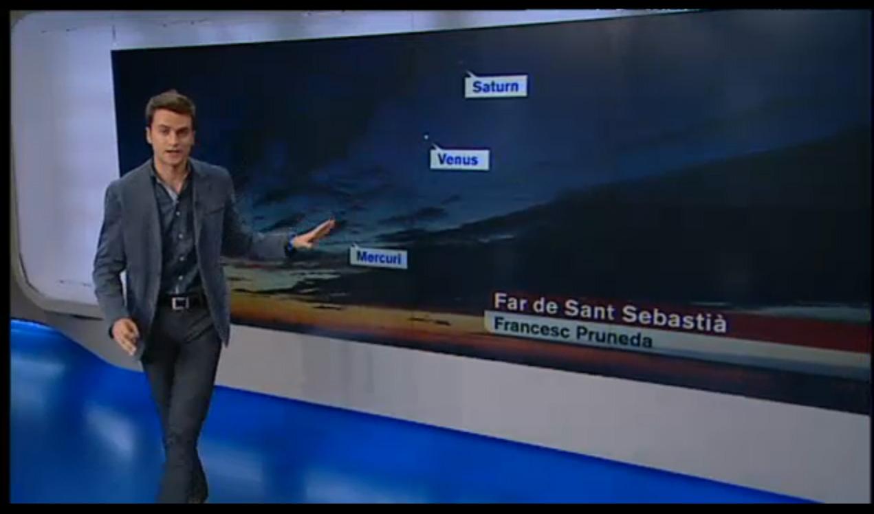 Conjunció a El temps vespre, de TV3