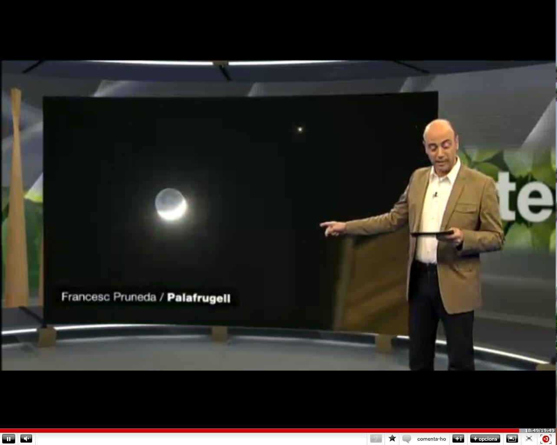 Conjunció Júpiter - Lluna a Espai terra TV3