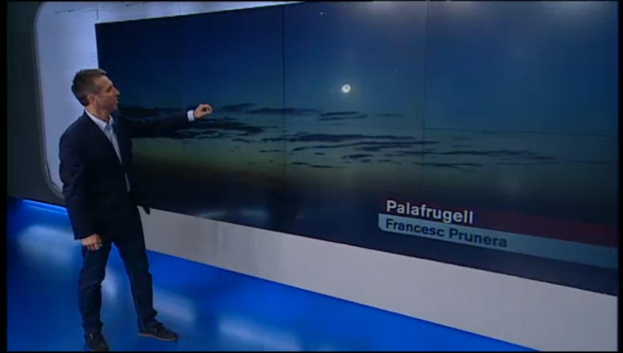 Mercuri, mart, júpiter i la lluna a El temps TV3