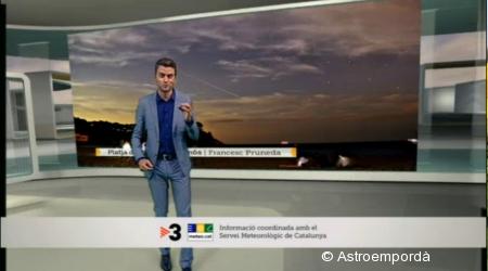 Perseida a El temps migdia de TV3
