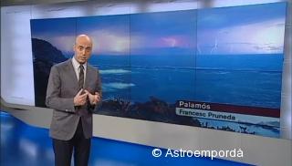 Llamps a El temps vespre, TV3