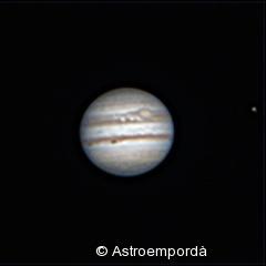 Júpiter i la taca roja