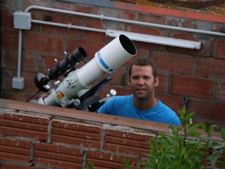 Francesc Pruneda des de l'observatori Can Duran