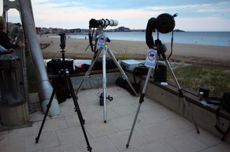 Telescopis a punt per l'eclipsi