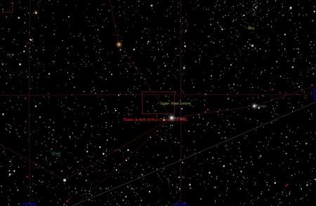 Ubicació galàxia NGC 4666 a Virgo