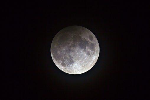 Eclipsi Penombral, durant el màxim, 1:34h