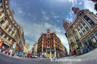 Plaza Canalejas en HDR i ull de peix