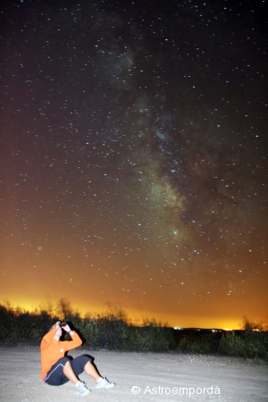 Observant la Via làctea