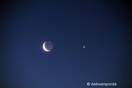 Conjunció Lluna - Venus