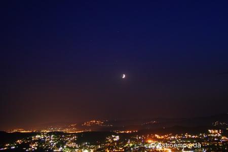 Saturn, mart, spica i la lluna