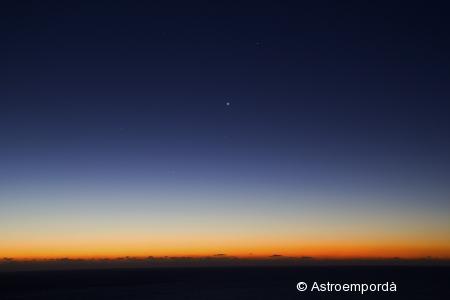 Conjunció Mercuri, Venus i Saturn