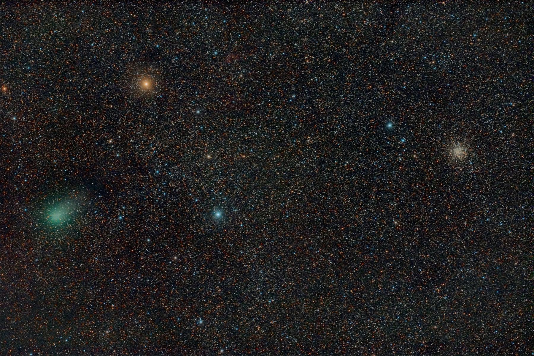 Cometa C/2009 P1 Garradd amb el cúmul M71