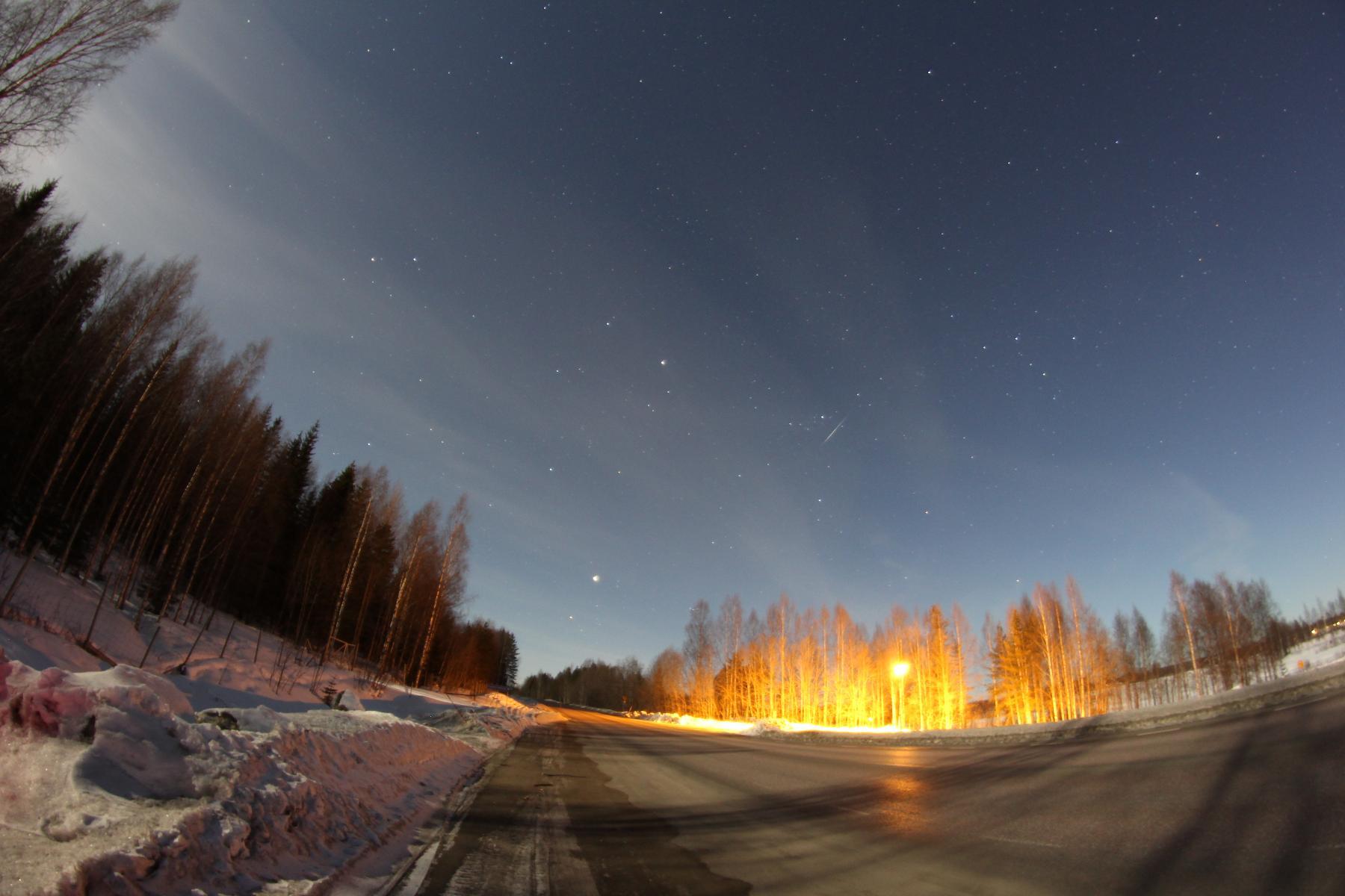 Meteor al cel d'Skelleftea
