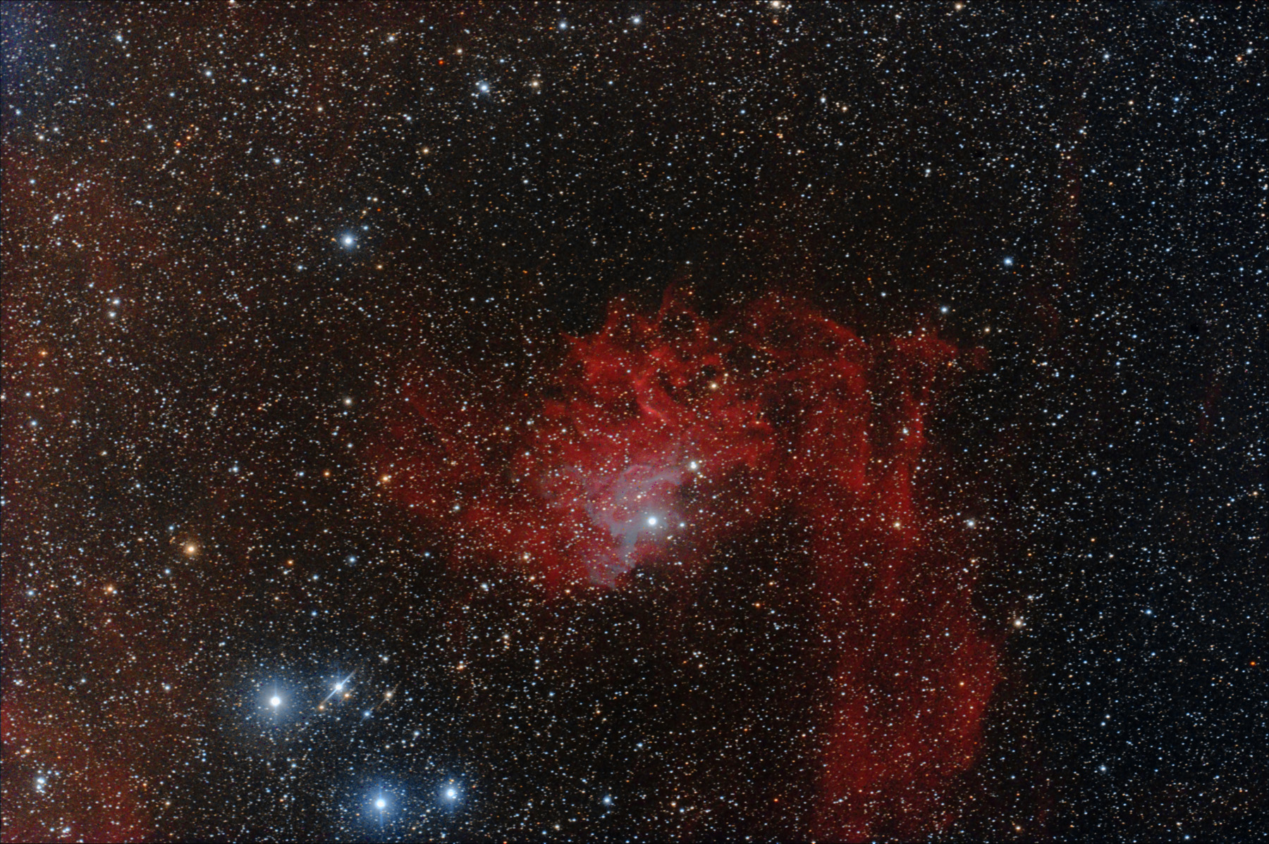 IC 405 Flaming star nebula