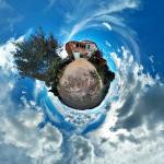 Panoràmica amb núvols