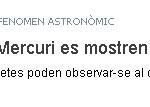 Venus i Mercuri es mostren junts aquests dies